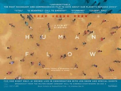 HUMAN FLOW UK Quad Poster thumb